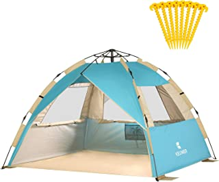 Gorich 2019 Upgraded Easy Set Up Beach Tent with SPF UV 50+ Protection, Beach Sun Shelter Canopy Cabana for Family Trip, P...