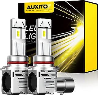 AUXITO 9005 LED Headlight Bulbs 12000LM Per Set 6500K Xenon White Mini Size HB3 Wireless Headlight, Pack of 2