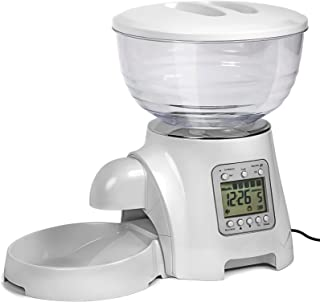Automatic Cat Feeder Dog Food Dispenser - Pet Auto Feeders w/Bowl Automated Smart Timed - Programmable Timer for Cats & Dogs - Electronic Portion Control Slow Self Filling Dry Feeding Storage Bowls