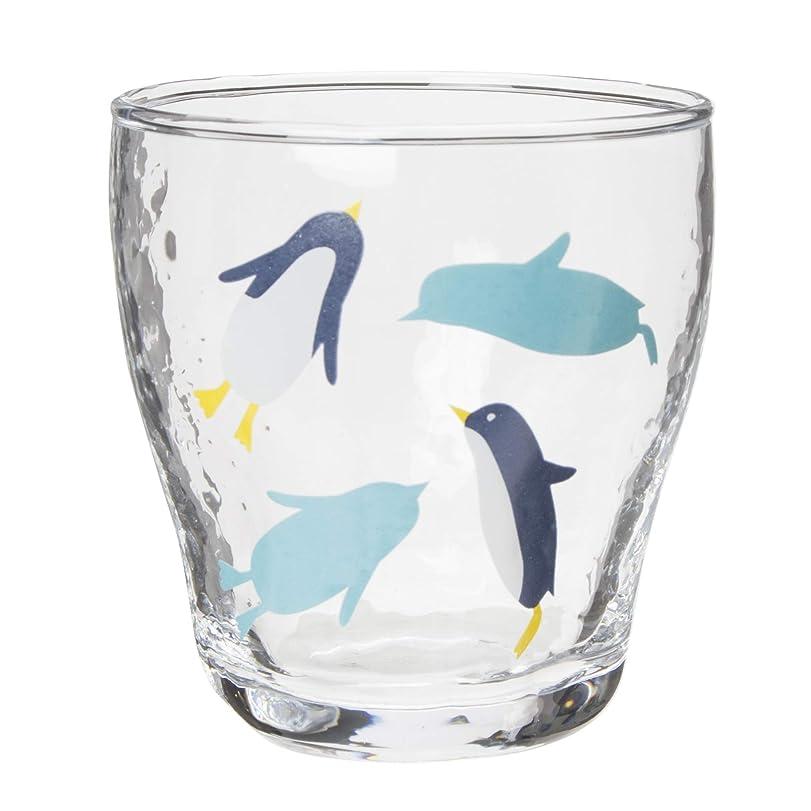灌漑旅トレイサンアート かわいい食器 「 南極 」 ペンギン タンブラー 250ml クリア SAN2218-2