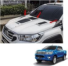 Powerwarauto Front Bonnet Hood Scoop Cover White 3 Pc Trim For Toyota Hilux Revo SR5 2015 2016 2017 2018