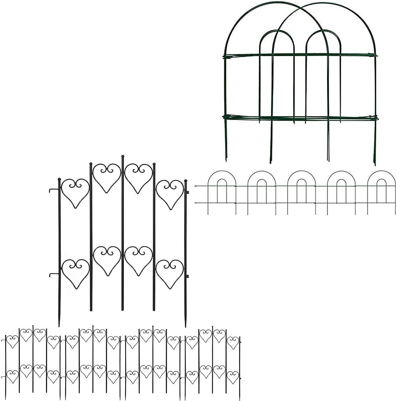 Amagabeli Decorative Garden 55% OFF Fence Max 85% OFF 18 in x Bundle 50 ft Fe