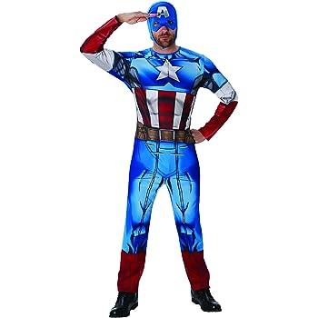 Rubies s – Disfraz de Oficial Adulto de Marvel Capitán América ...