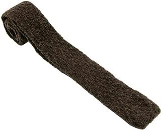 """Ermenegildo Zegna Chocolate Brown Melange Wool Blend Tweed Square Tie 2.25"""""""