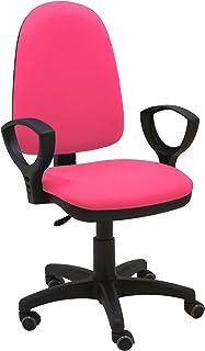La Silla de Claudia - Silla Escritorio y Oficina Torino Color Rosa Fucsia. Silla Oficina ergonómica con reposabrazos. Asiento y Respaldo Regulables. Ruedas de Goma
