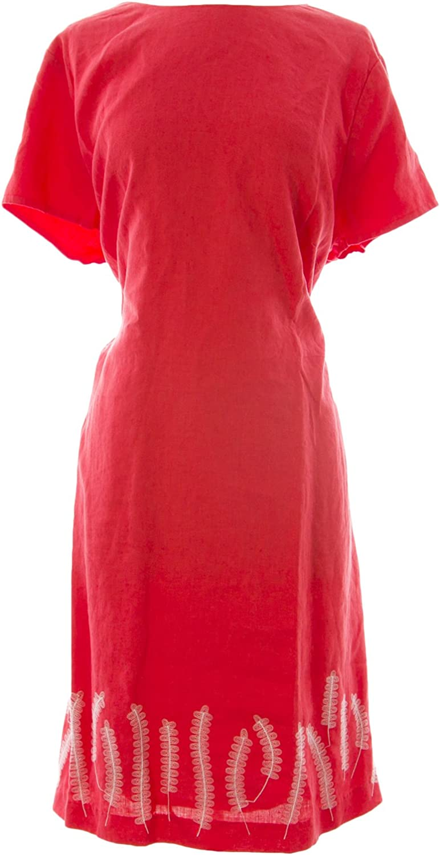 BODEN Women's Stitch Detail Dress red Sunset