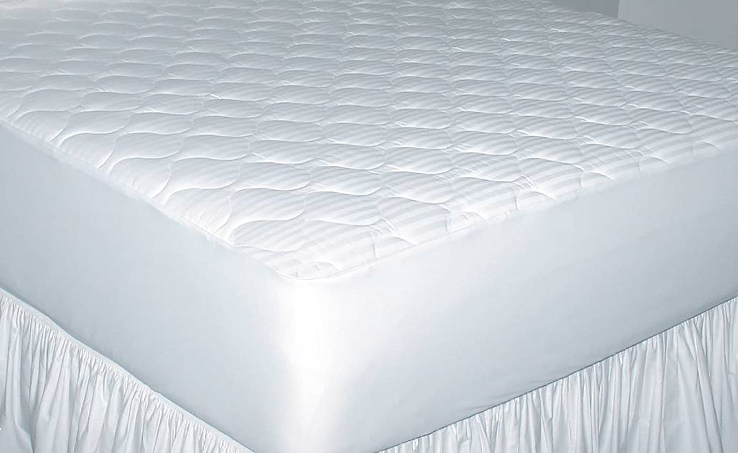 Newpoint Home Deluxe Dallas Mall 250-Thread-Count Damask OFFicial store Cotton Queen Stripe