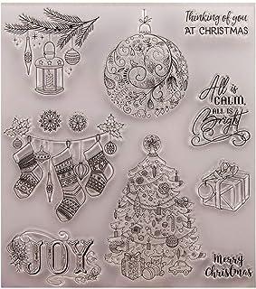 PULABO Tampon transparent pour scrapbooking et gaufrage pour cadeau de Noël