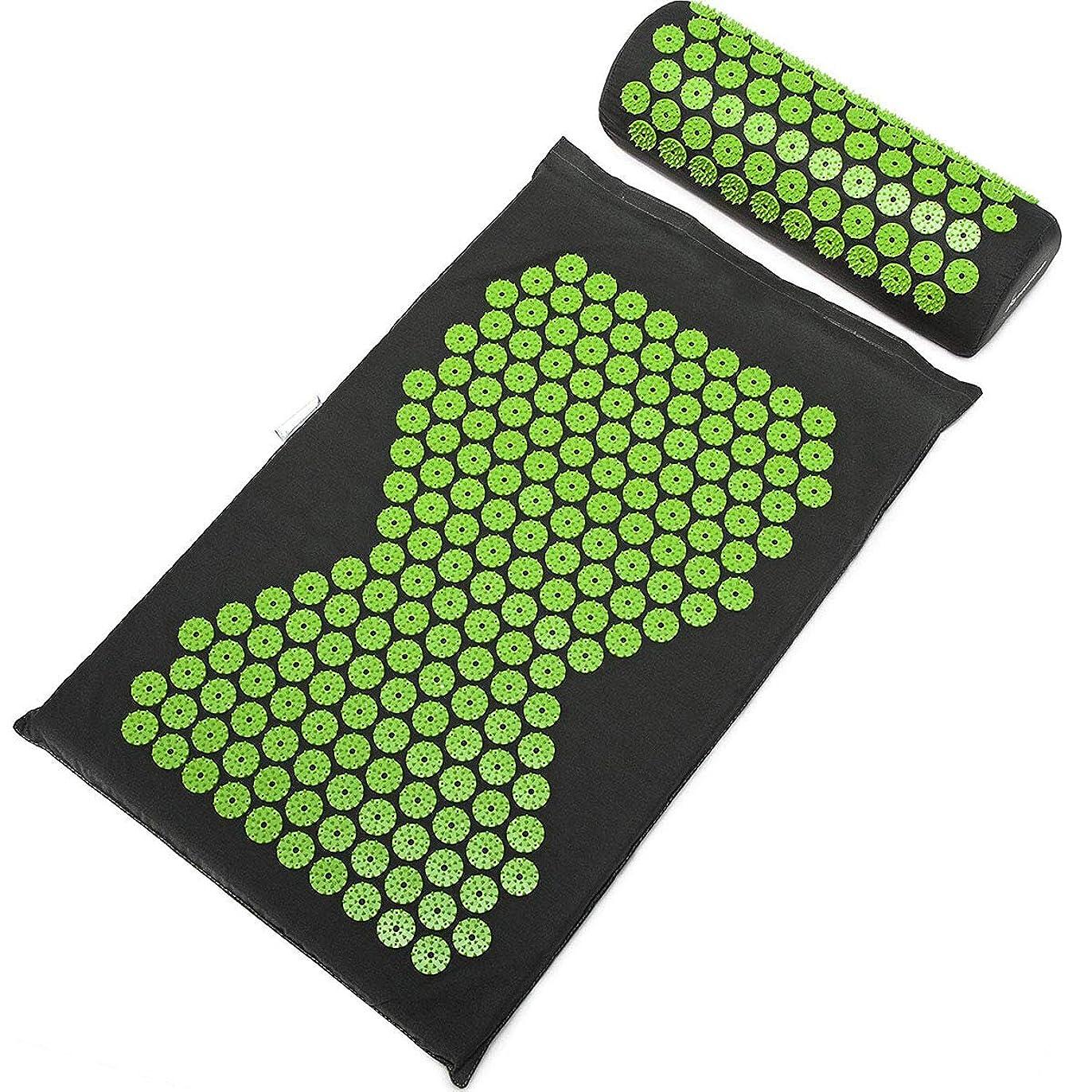 区画製作コピーSulida ヨガマット マッサージマパッド ストラップ付き マッサージ枕 トレーニングマット 睡眠改善 自宅運動 マット 高密度 持ち運び 滑り止め 血行促進 収納簡単 エコ グリップ力 クッション性