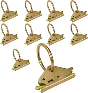 Best Eapele 10PCS Steel E-Track O Ring Tie-Down Anchors for E-Track TieDown System, Secure Cargo in Enclosed/Flatbed Trailers, Trucks (ETrack Rails Not Included) Review