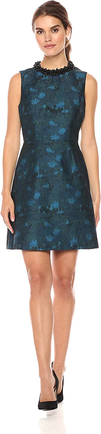 Betsey Johnson Womens Women's Beaded Collar Jaquard Dress Casual Dress
