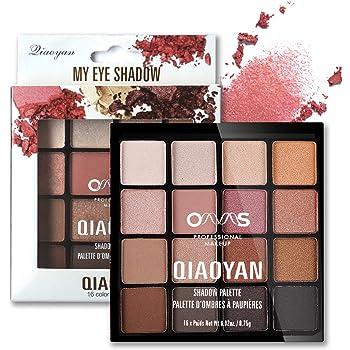 Onlyoily Paleta De Sombras De Ojos Profesionales - Paleta Maquillaje - Altamente Pigmentados 16 Colores Brillantes y Mate: Amazon.es: Belleza
