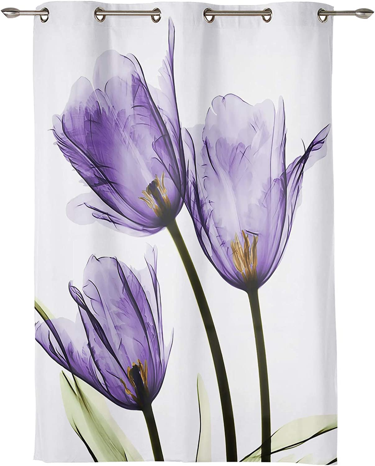Infinidesign 手数料無料 ご注文で当日配送 Floral Window Curtain Light Protect Privacy Filter