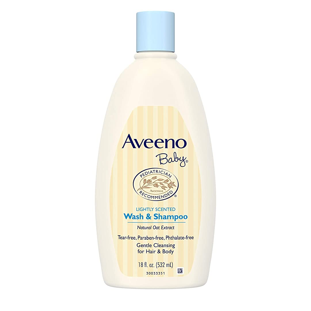 当社非常に申し立てるAveeno Baby Wash & Shampoo 18 oz.
