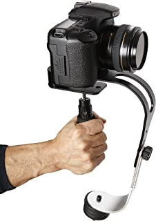 The Official Roxant Pro Video Camera Stabilizer Limited Edition (Midnight Black) with Low Profile Handle for GoPro, Smartp...