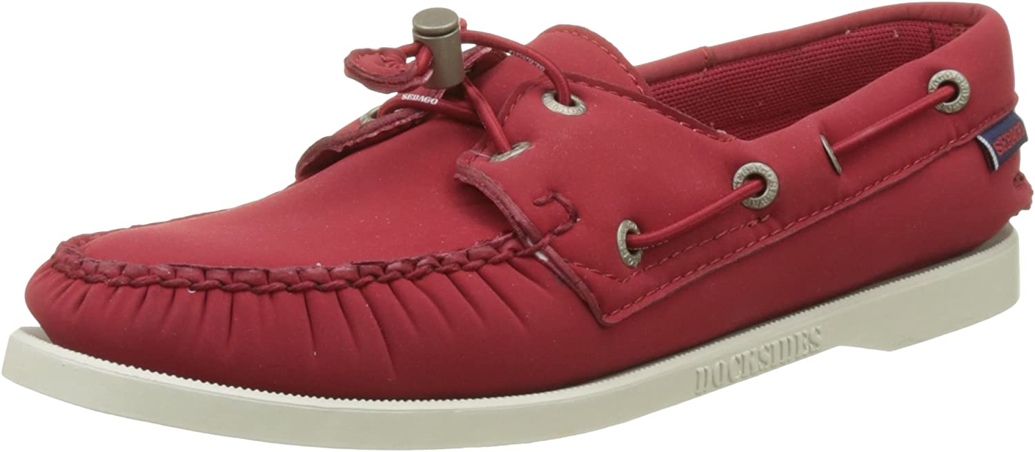 Sebago Docksides Ariaprene Womens Slip On shoes UK 7 Red