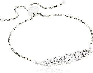GUESS Women's Graduated Stone Slider Close Bracelet