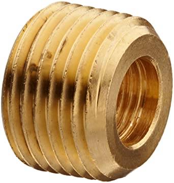 BRASS FACE BUSHING REDUCING NPT THREADS PIPE FITTING 3//4 MALE X 1//2 FEMALE
