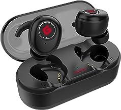 True Wireless Earbuds Bluetooth 5.0 Headphones, Sports in-Ear TWS Stereo Mini Headset w/Mic Extra Bass IPX5 Waterproof Low...