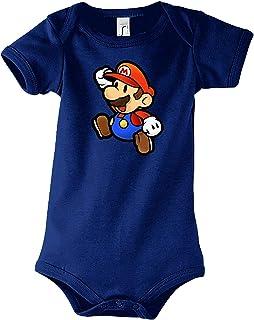TRVPPY Baby Jungen & Mädchen Kurzarm Body Strampler Mario