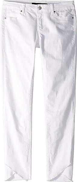 The Markie Fit Tulip Hem Jeans in Bright White (Little Kids/Big Kids)