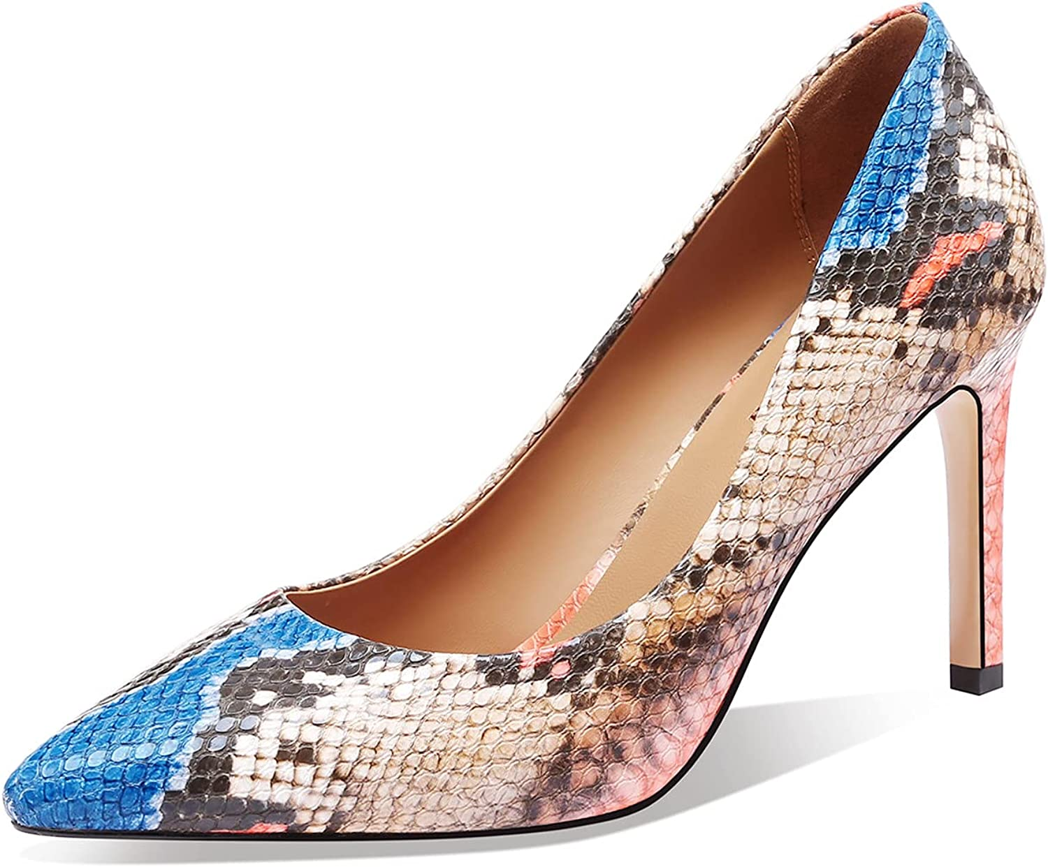 JIMISHOW Women Snakeskin Heels Stiletto Print Sales of SALE items from new works Heeled Pump Python OFFer