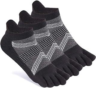 Women's Toe Socks No Show Cotton Running Five Finger Socks Low Cut Athletic Socks