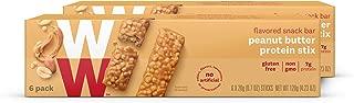 WW Peanut Butter Protein Stix - Gluten-free, High Protein Snack Bar, 2 SmartPoints - 2 Boxes (12 Count Total) - Weight Watchers Reimagined