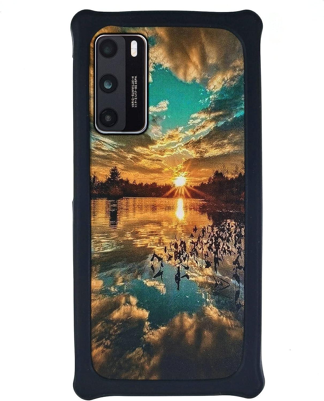 HUAYIJIE Funda para Xiaomi Mi6 Ceramic Funda Case Cover Carcasa para teléfono Hard Backplane + Marco de Silicona Suave PCFJ