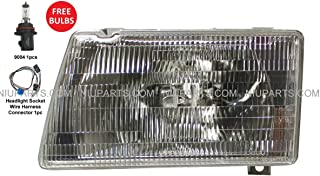Headlight with Adjusters & Mounting Frame Metal - Driver Side (Fit: Peterbilt 377 385 & 375 Truck)
