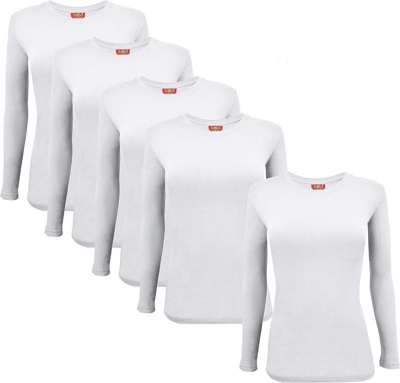 MM SCRUBS Women's Under Scrub cheap Manufacturer OFFicial shop Tee Crew Neck Long T-Shirt Sleeve