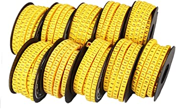 Dealglad 10 Rolls of 0-9 Number Tube Soft Elastic Cable Wire Markers Label Tag (6mm²)