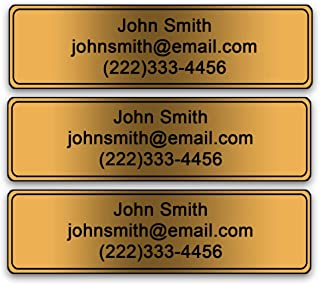Personalized Golf Club Name Labels - Custom Printed on Heavy Duty PVC (Set of 24 Labels)