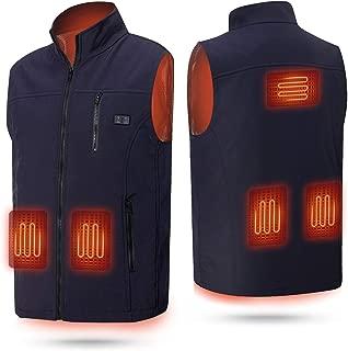 rocboc Heated Vest USB Electric Heated Jacket Lightweight Heated Clothing