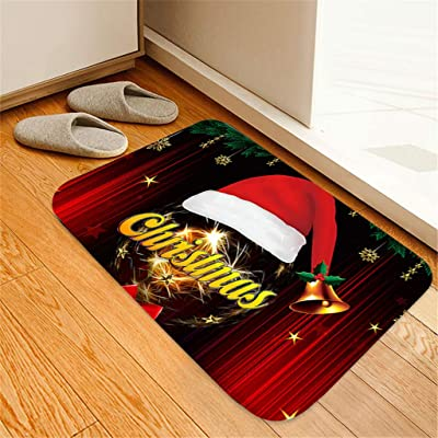 Christmas Rug Gentle Non-Slip Floor Mat Series ...