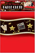 """Forum Novelties 54"""" x 108"""" Hollywood At the Movies Party Plastic Table Cloth Oscars Night Celebration 75867"""