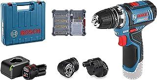 comprar comparacion Bosch Professional 12V System Atornillador GSR 12V-15 FC (incluye batería de 1x2,0 Ah, cargador rápido, 3x accesorios de p...
