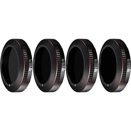 Freewell Bright Day – 4K Series – 4Pack ND8/PL, ND16/PL, ND32/PL, ND64/PL Filters Compatible with Mavic 2 Zoom Drone