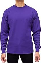 Access Men's Heavyweight Long Sleeve Thermal Crew Neck Top Purple