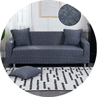 Little Happiness- L Shaped Sofa Cover Elastic Blue Sofa Covers for Living Room Copridivano Couch Cover Sofa slipcovers for armchairs 1-4-Seater,Color 23,3-Seater(195-230cm)