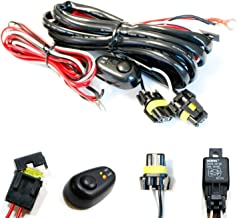 iJDMTOY (1) 9005 9006 H10 Relay Harness Wire Kit with LED Light ON/OFF Switch For Aftermarket Fog Lights, Driving Lights, Xenon Headlight Lighting Kit, LED Work Lamp, etc