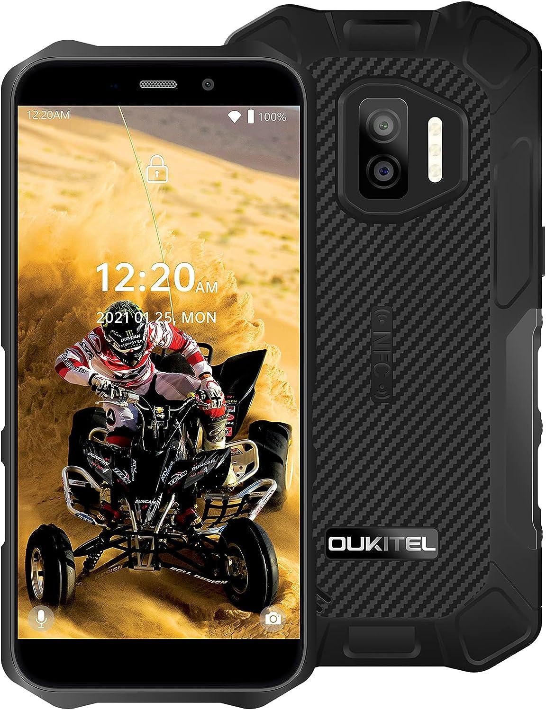 OUKITEL WP12 Pro Telefono Moviles Libre Resistente, Android 11 4G Dual SIM Teléfono Móvil, 5,5 Pulgadas, 4000 mAh Batería Rugged Movil Baratos, 4GB RAM+64GB ROM Movil IP68 Impermeable NFC/OTG(Negro)