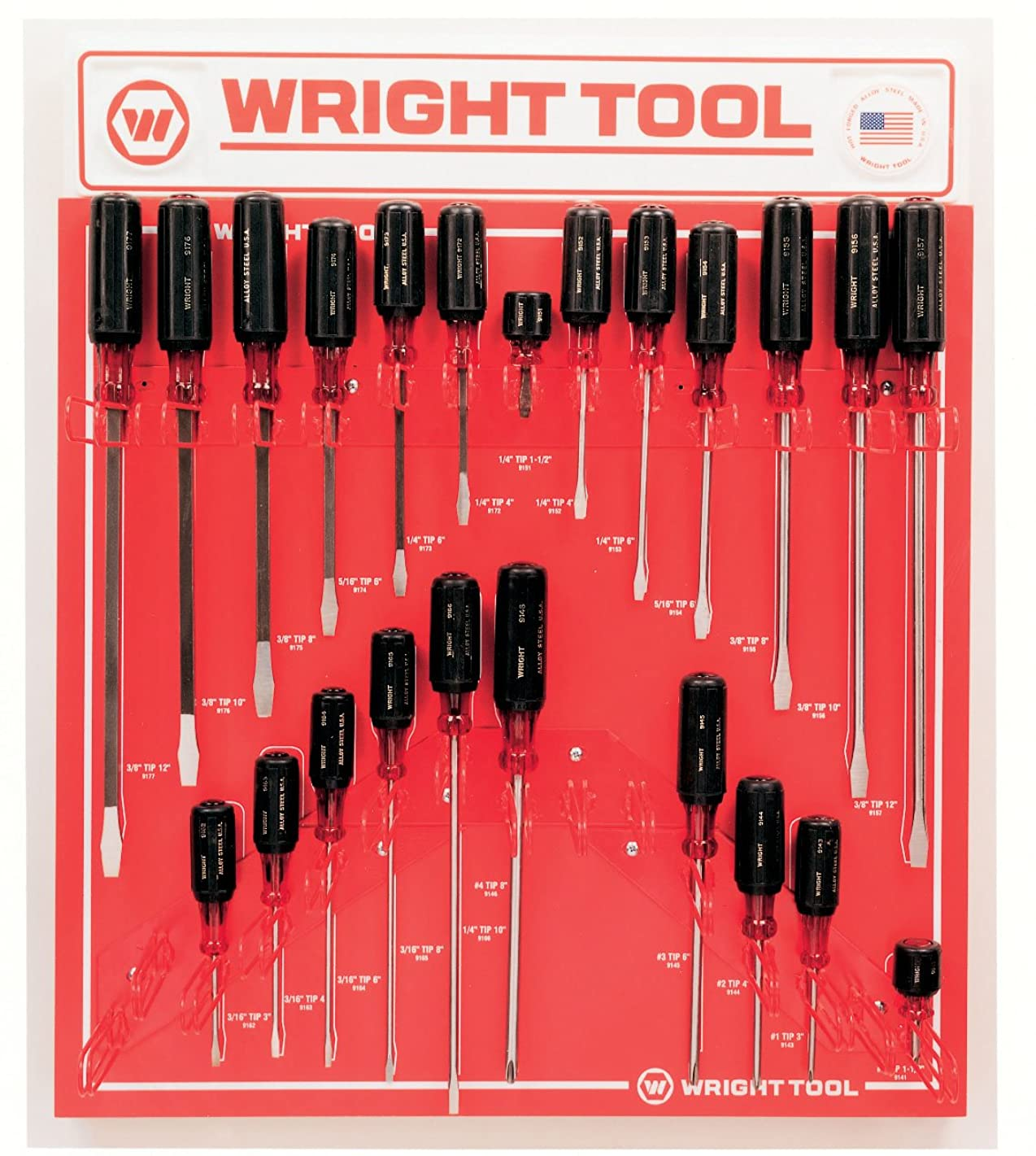 Wright Tool D974B Large Cushion-Grip Handle Screwdrivers