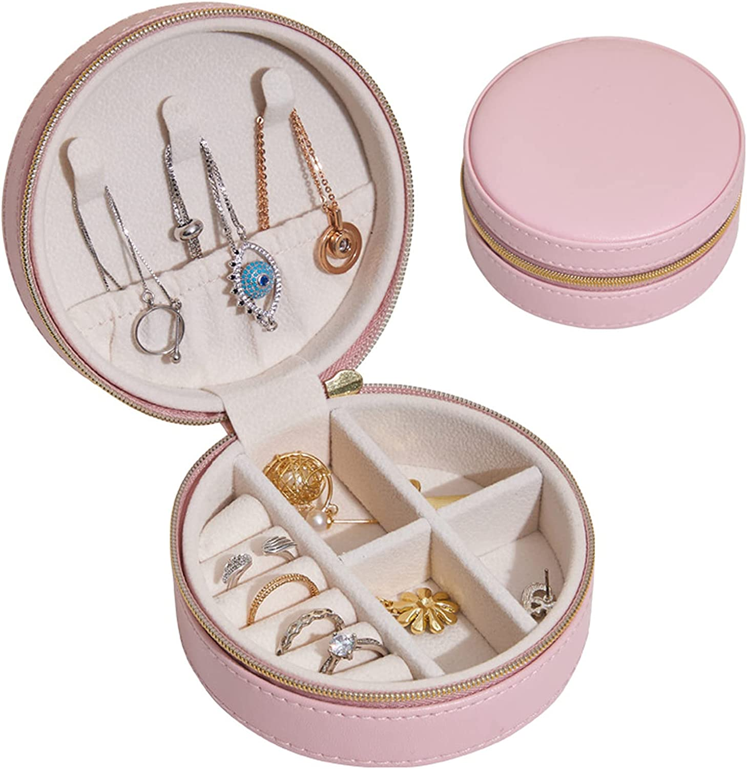 Jewelry Boxes Creative Round lowest Max 52% OFF price Box Necklac Earring Storage