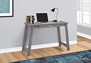Monarch Specialties Computer Desk with a drawer Grey 42