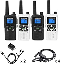SAMCOM FWCN30A Two Way Radio 22 Channels with NOAA Weather Alert, Rechargeable Handheld..