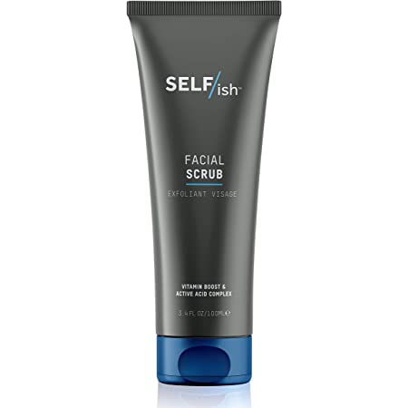 Self Ish Men S Face Scrub Exfoliating Facial Cleanser Deep Cleansing Effective Shave Prep Beard Exfoliator For Men Natural Ingredients 3 4fl Oz Beauty