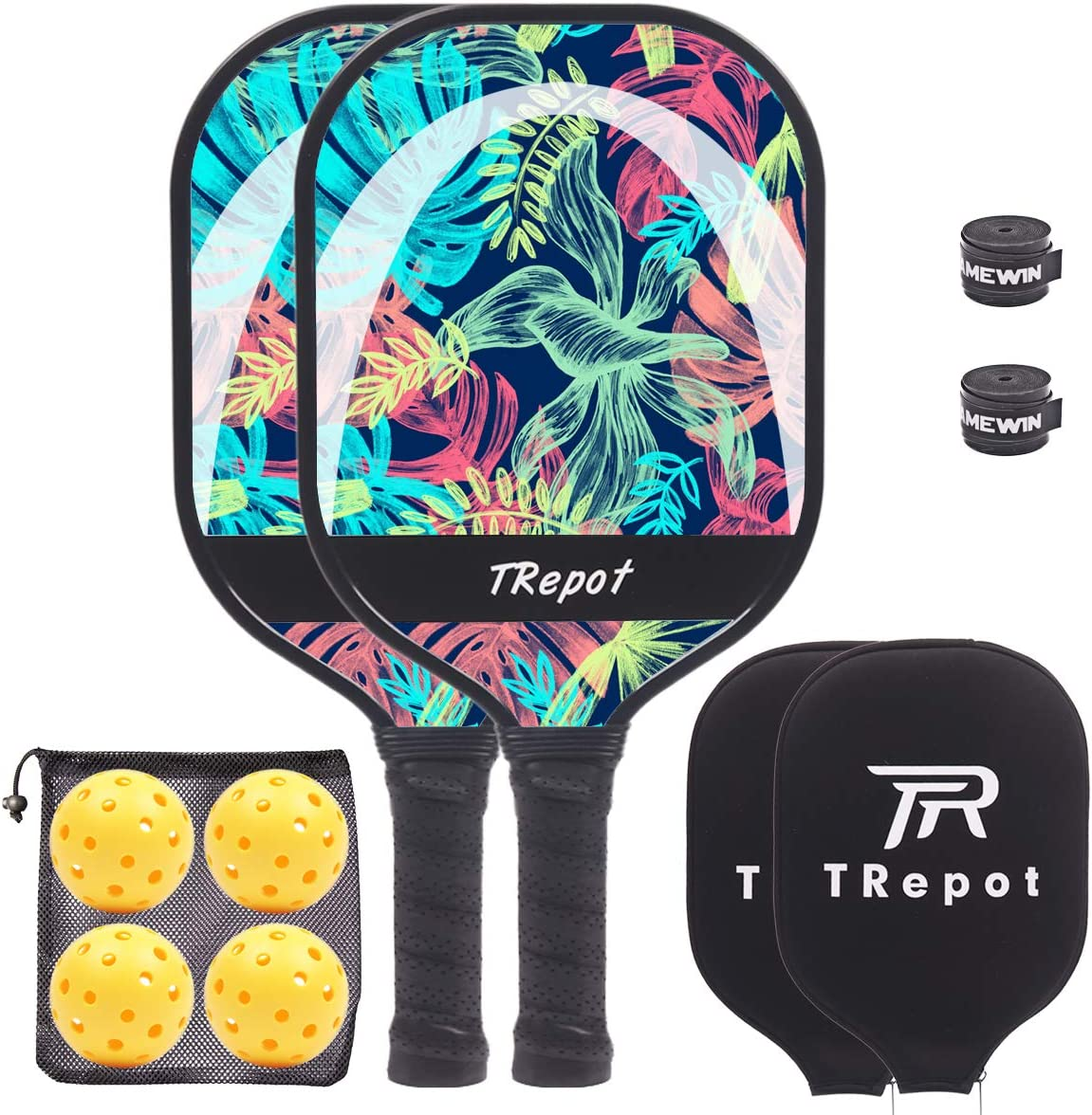 Lowest price challenge Trepot Pickleball Paddles Set Max 87% OFF of Graphite Honeycomb Surface Co 2