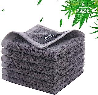 Bamboo Washcloths, Wash Cloths for Women Makeup Remover, Newborn Bath Face Towel, Natural Reusable Soft Absorbent Face Tow...