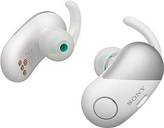 【工場再生品】Sony ソニー WF-SP700N White ホワイト イヤホン ワイヤレスノイズキャンセリングステレオヘッドセット [並行輸入品]
